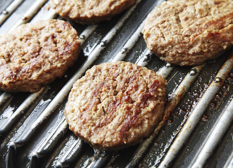 Indoor grilled burgers