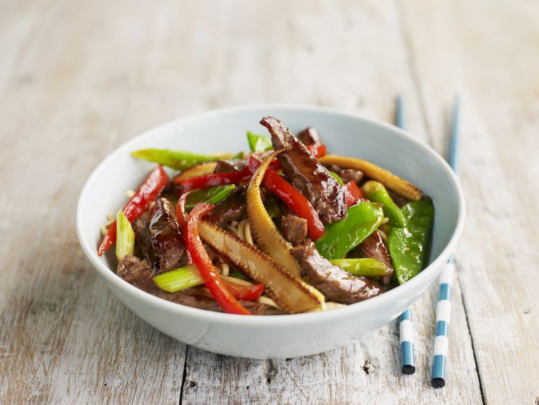 Bowl of beef stirfry