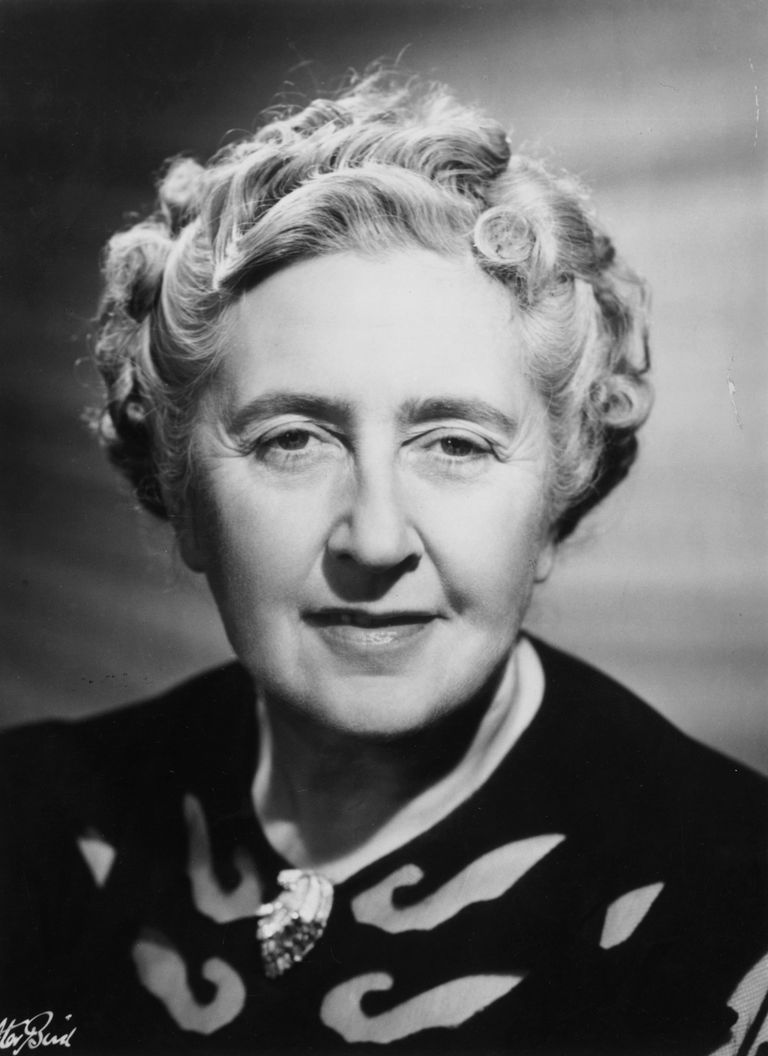 Picture of Dame Agatha Christie, the Queen of Crime.