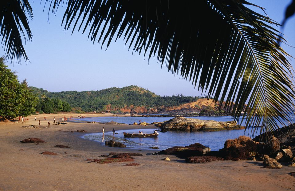 Om Beach - one of several beaches outside the pilgrimage town of Gokarna