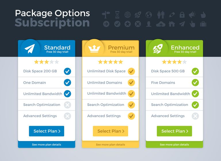 Pricing Packages Comparison