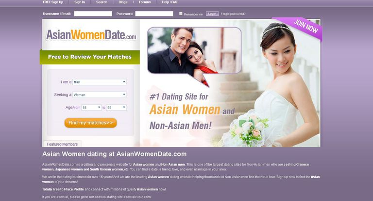 Dating sites for asian women