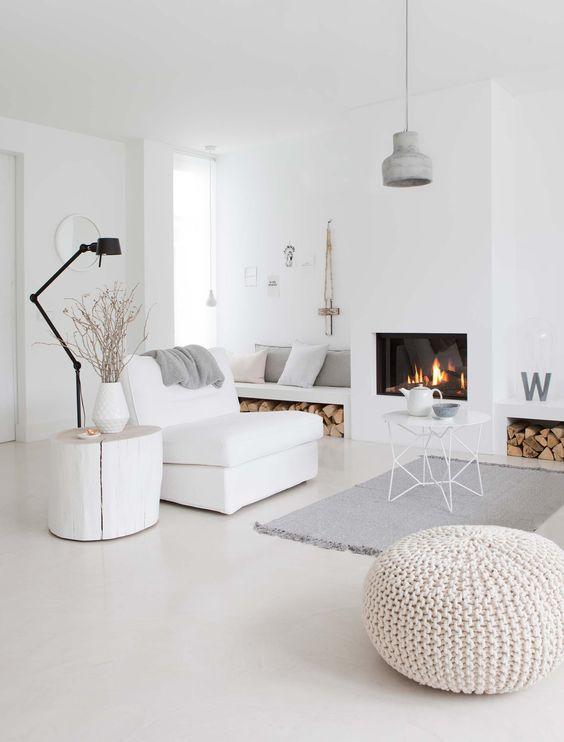 What is scandinavian design for All white living room set