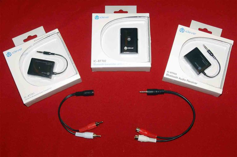 iClever IC-BTT01, IC-BTT02, IC-BTR03 Bluetooth Adapters w/Optional RCA Cable Adapters