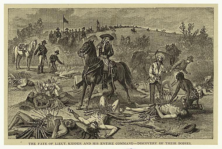Custer with Kidder's Body