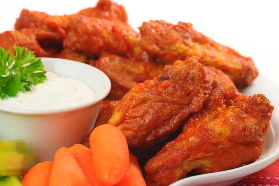 Buffalo chicken wings.