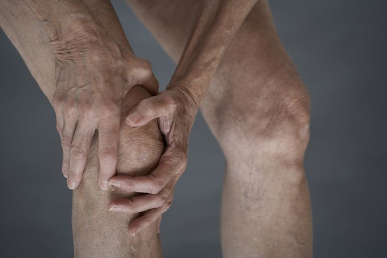 Knee pain and crepitus.