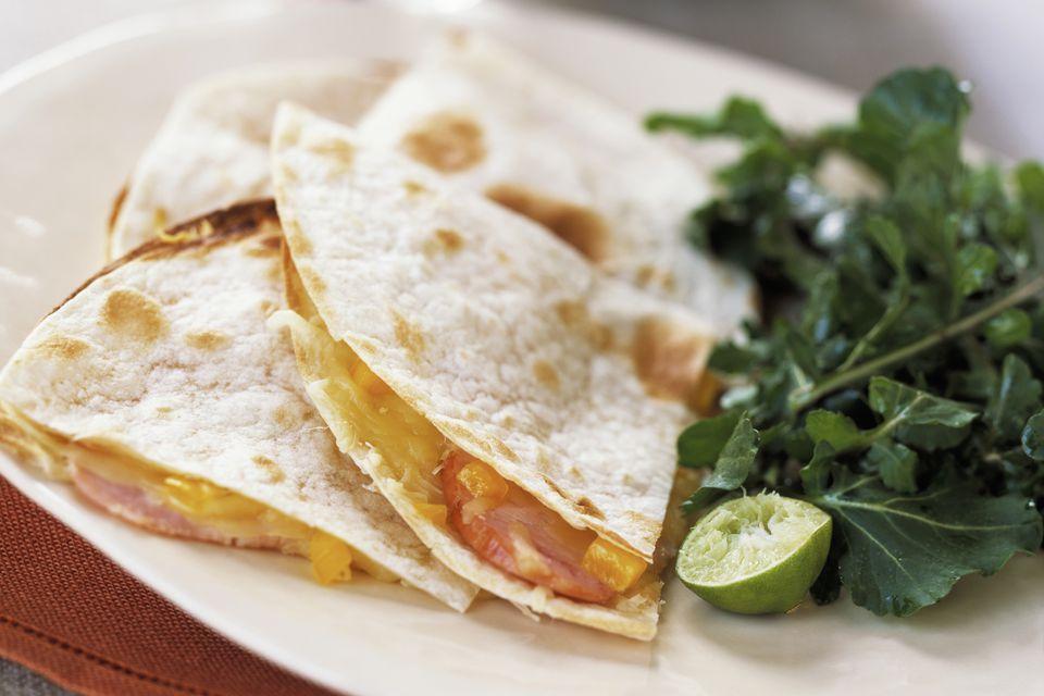 ham and cheese quesadilla