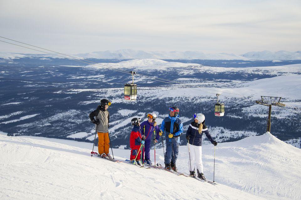 Ski Slopes in Are, Sweden