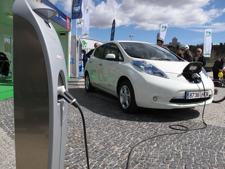 Electric Car Charging The Battery