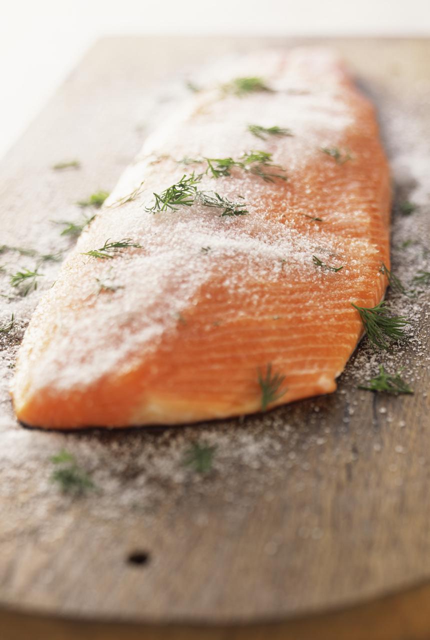 Salt cured salmon