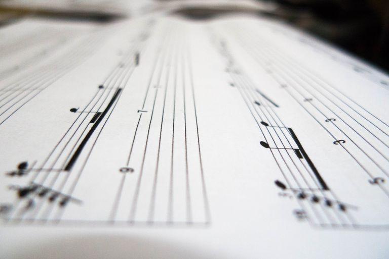 A close up shot of a musical sheet