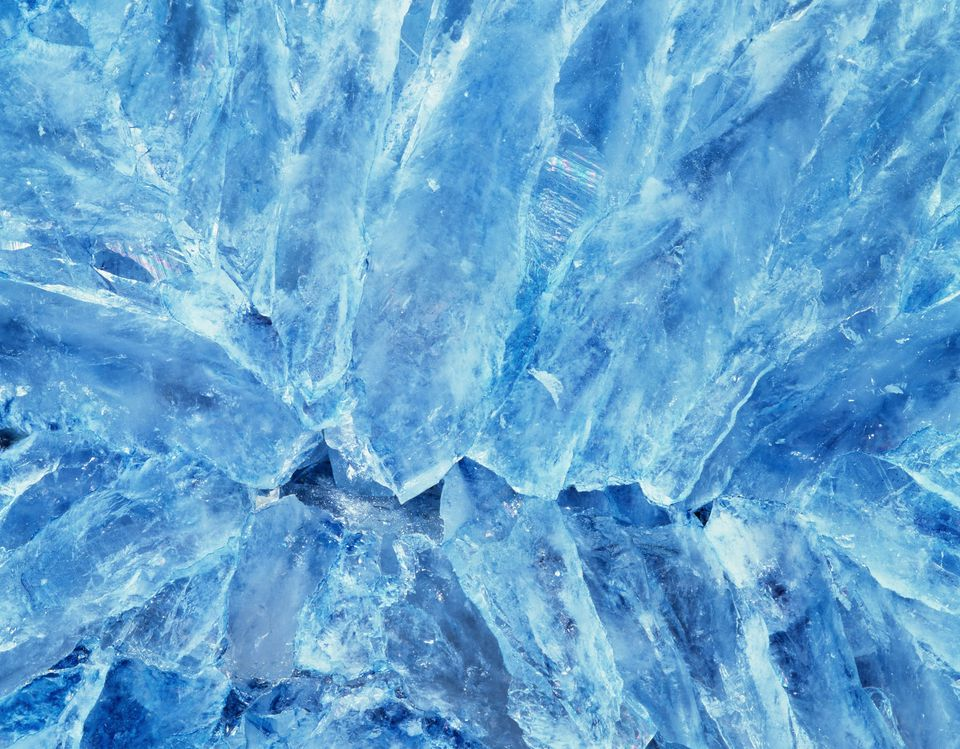 blue color celestite crystal