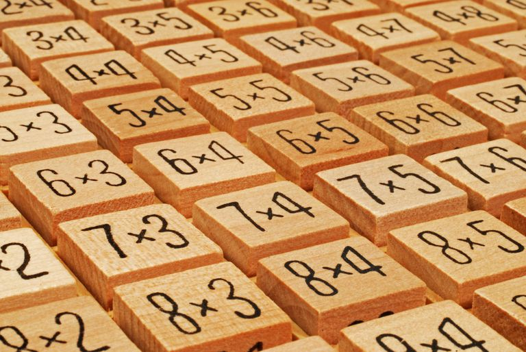 Wooden number puzzle.