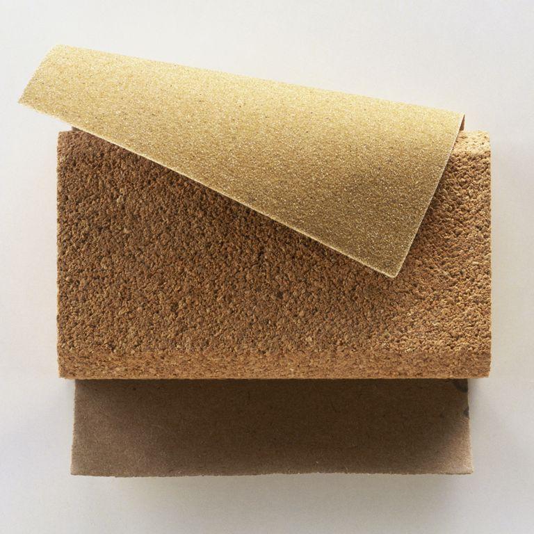 Sanding block and sandpaper.