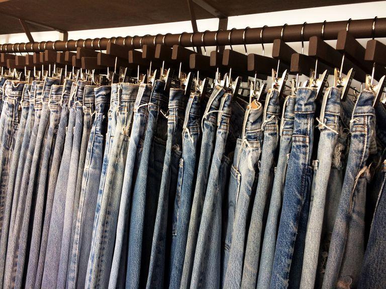 Blue jeans rack