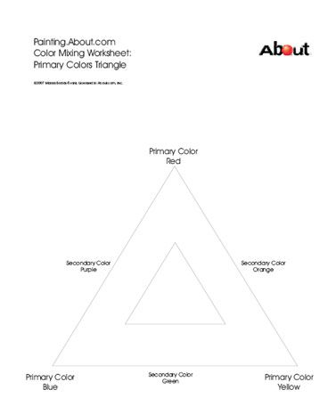 Art Worksheet Color Mixing Triangle