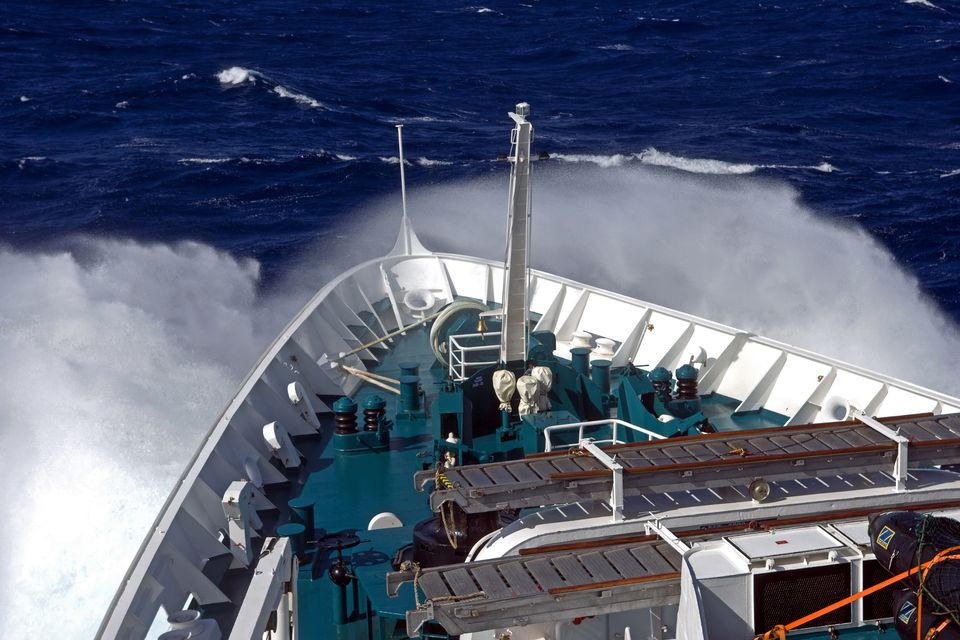 Rough seas cause seasickness for some on cruise ships