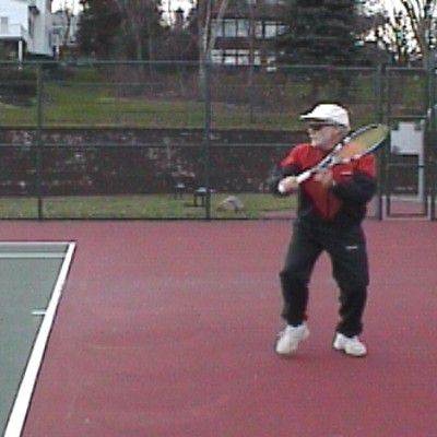 One-Handed Backhand Sidespin Slice: Starting Backswing