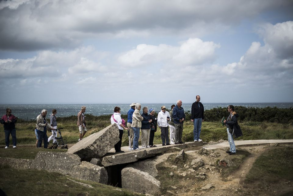 Tourists Visit Normandy For 70th Anniversary Year Of The D-Day Landings