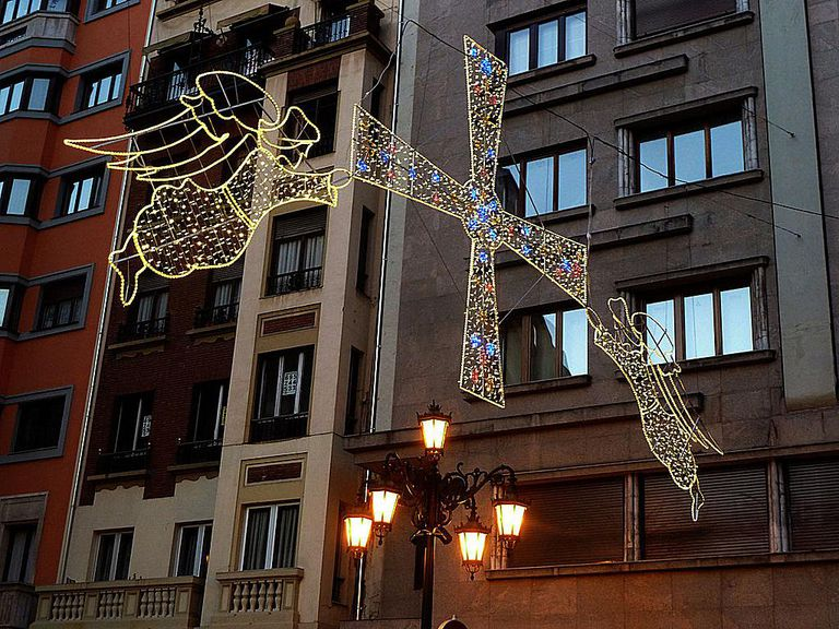 Christmas lights in Oveido, Spain.