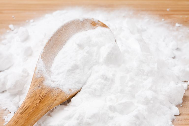 Baking powder contains a base and a dry acid. When a liquid is added to the recipe, the baking soda produces bubbles that cause the food to rise.