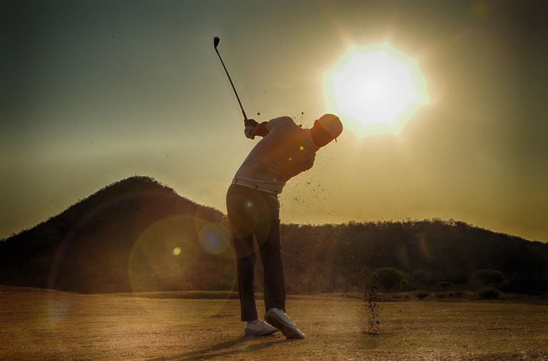 Golfing Into the Sun