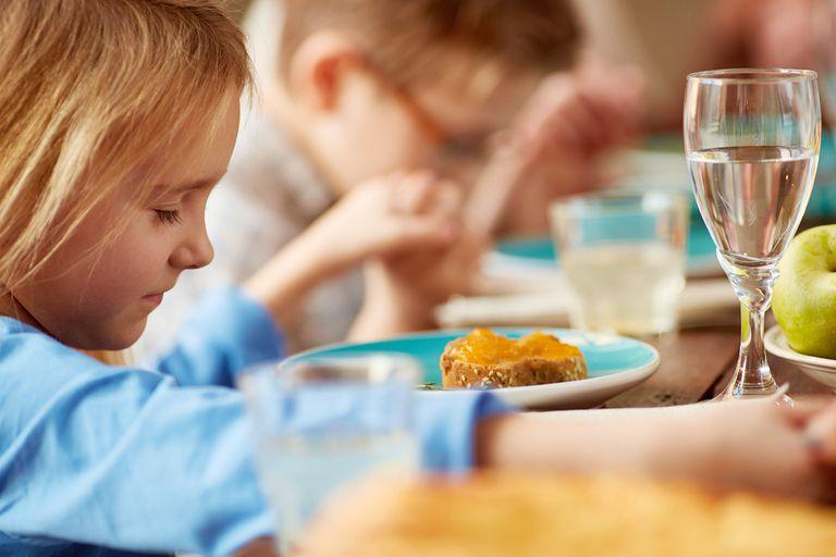 Children's dinner prayer