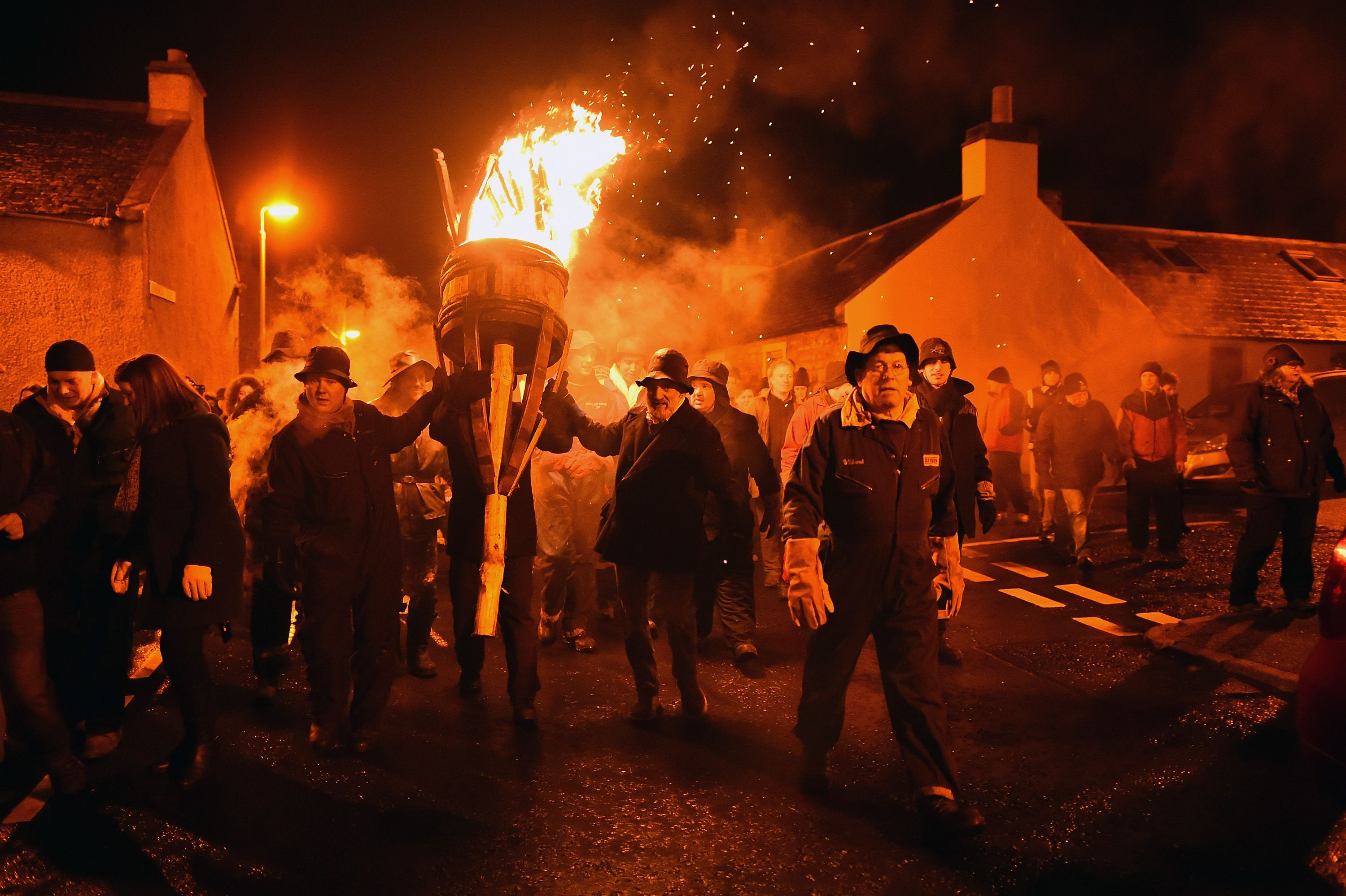 The Burning Of The Clavie In Burghead