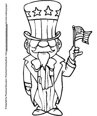 Preschool Coloring Books 4th Of July Pages
