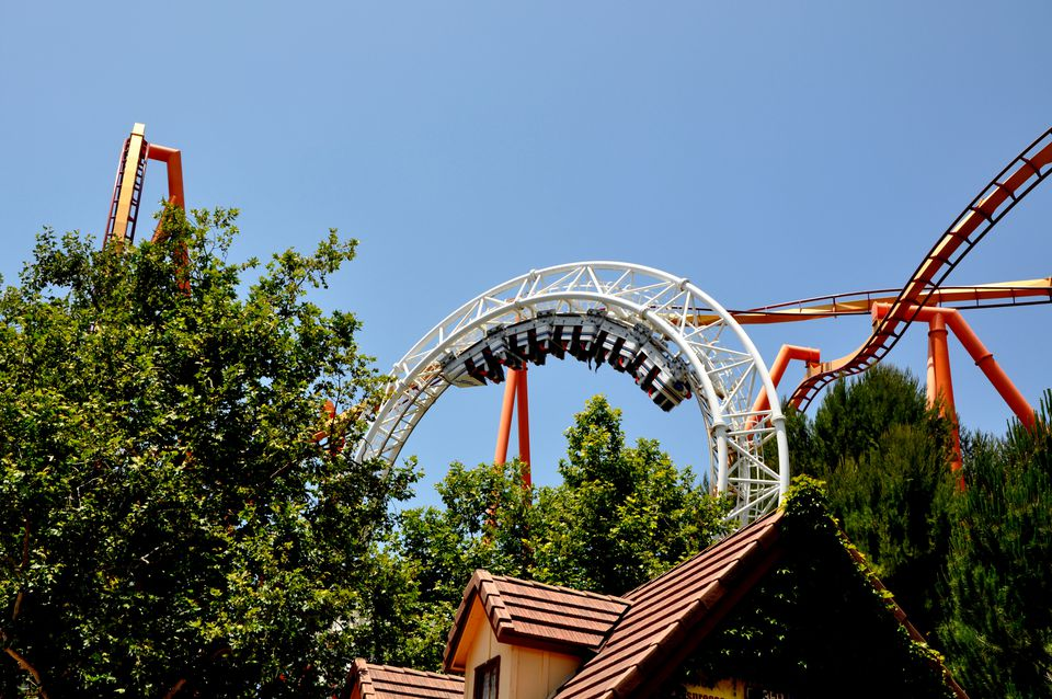 Revolution roller coaster at Six Flags magic Mountain.