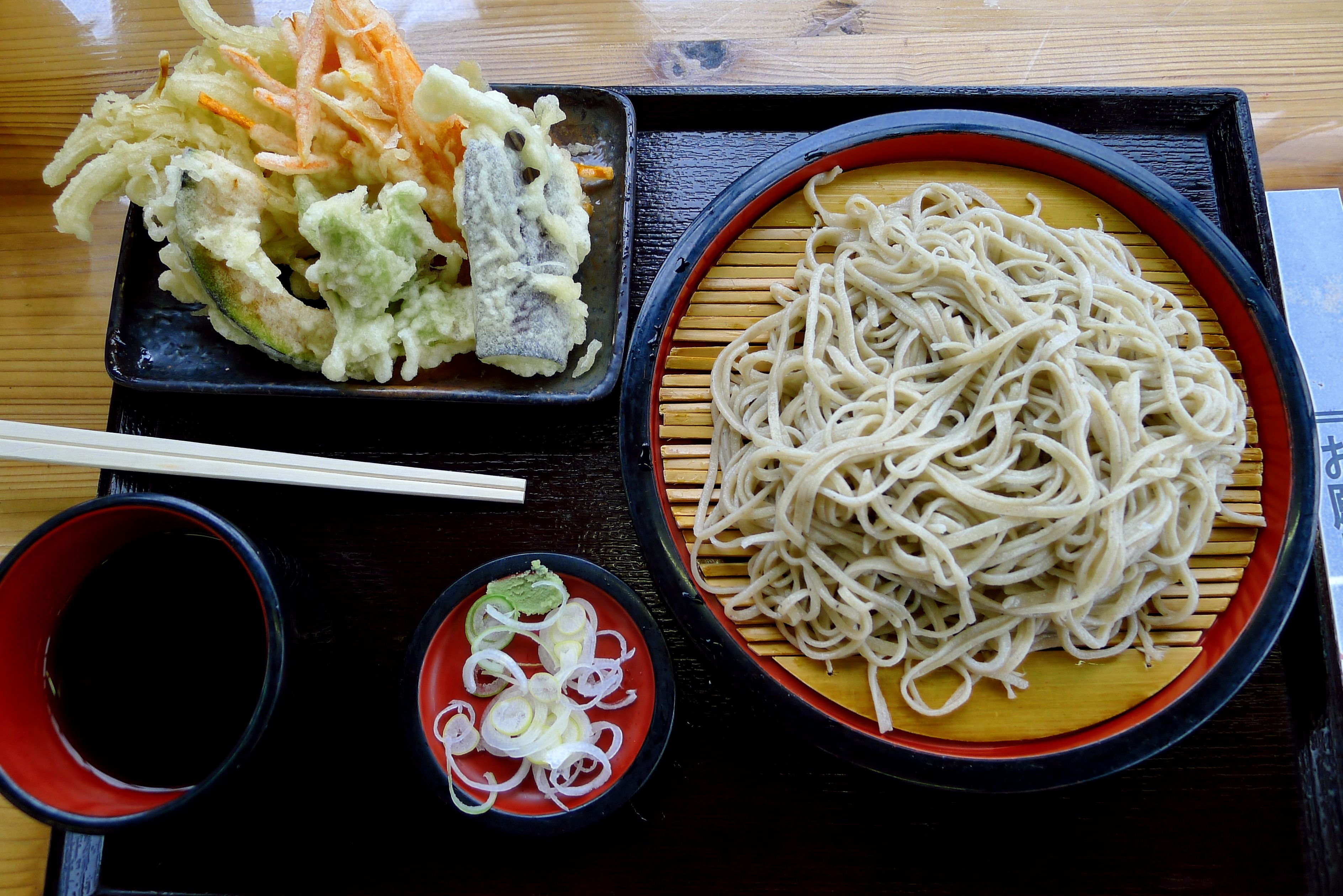 Tenzaru Soba Tempura With Chilled Buckwheat Noodles