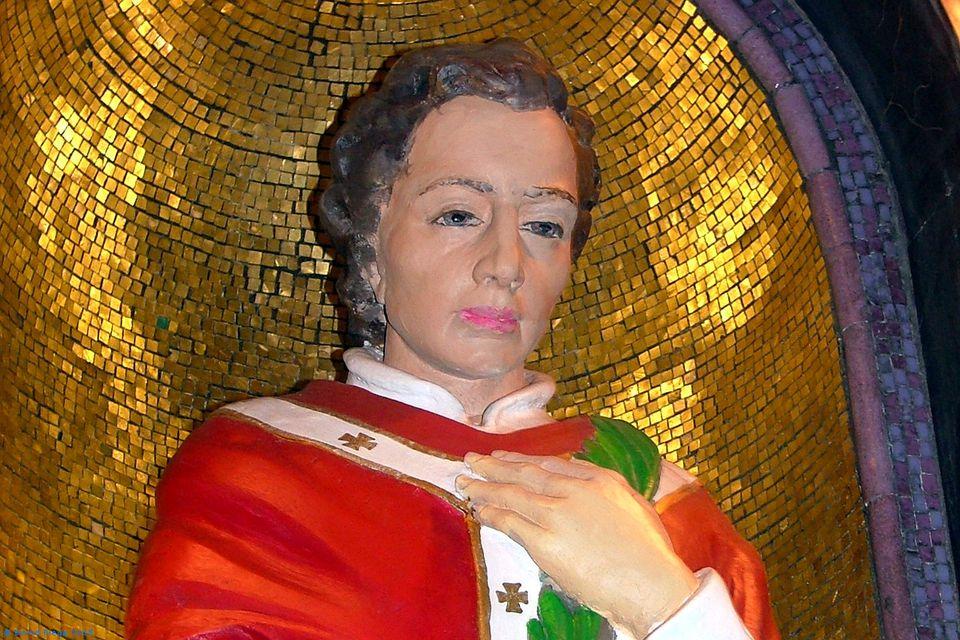 Statue of Saint Valentine in Dublin's Whitefriar Street Church.