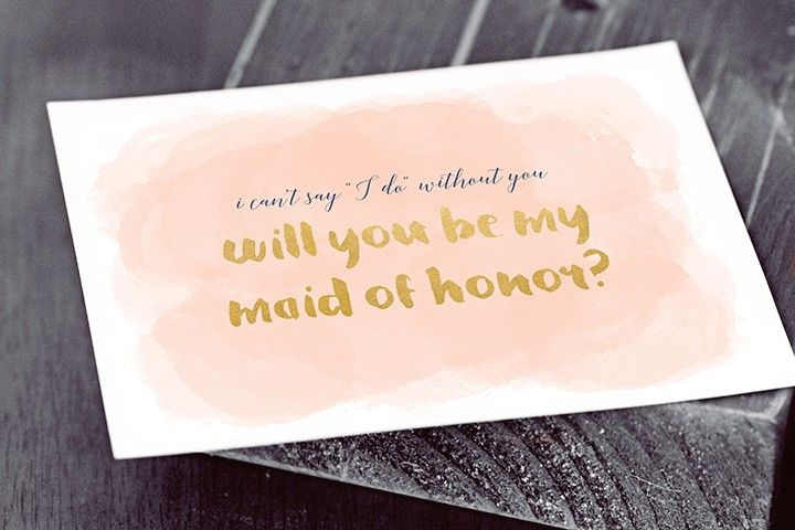 How To Be The Best Maid Of Honor: 19 Free, Printable Will You Be My Bridesmaid? Cards