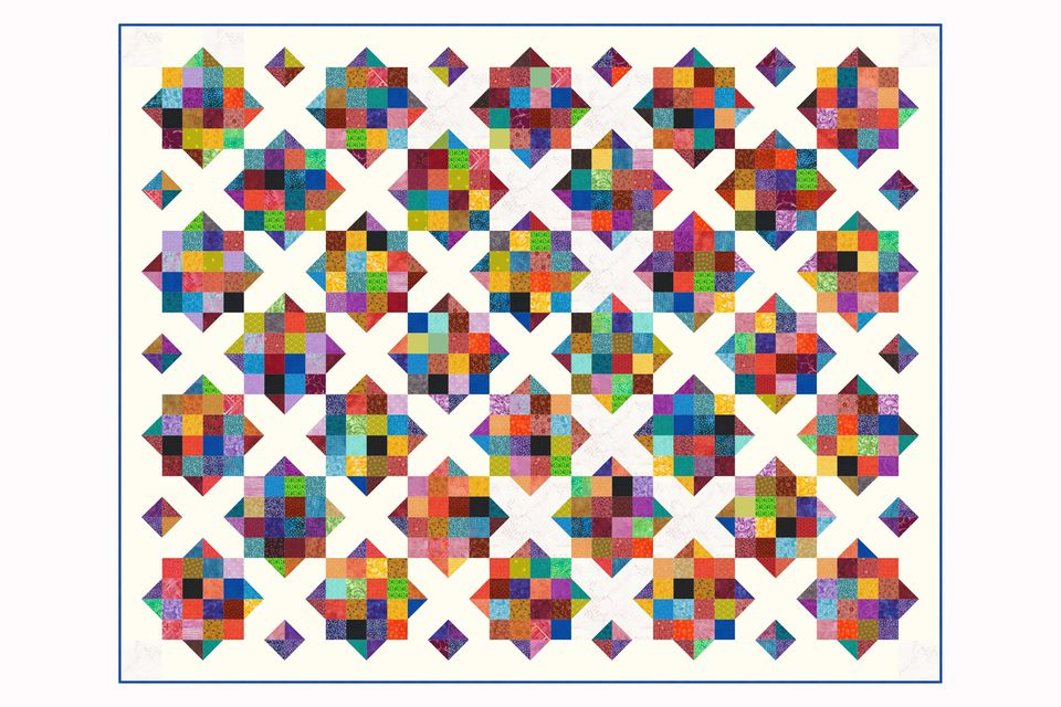 Sixteen Patch and X Quilt Variation