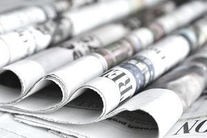Close-up of newspapers
