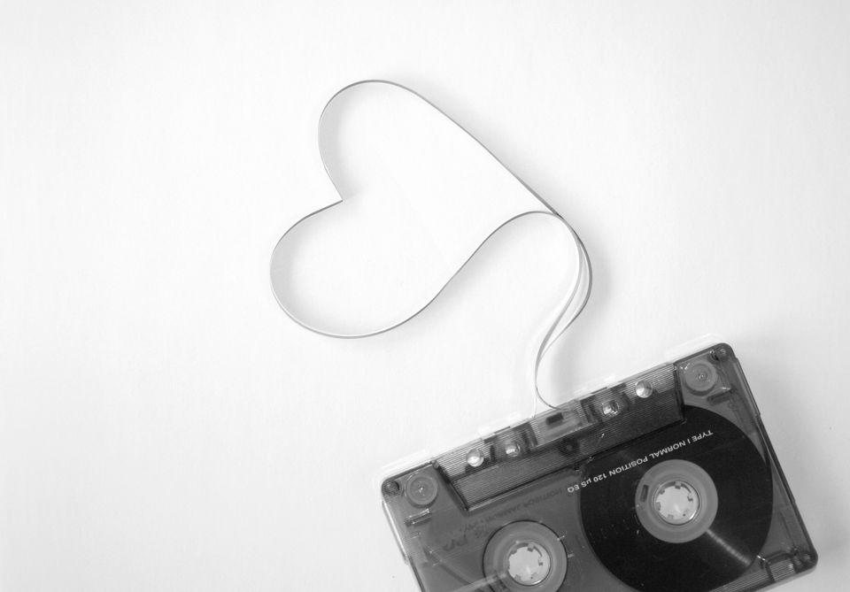 Cassette on white background
