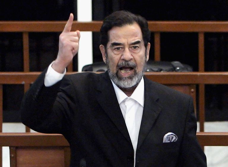 Former Iraqi President Saddam Hussein receives his guilty verdict.