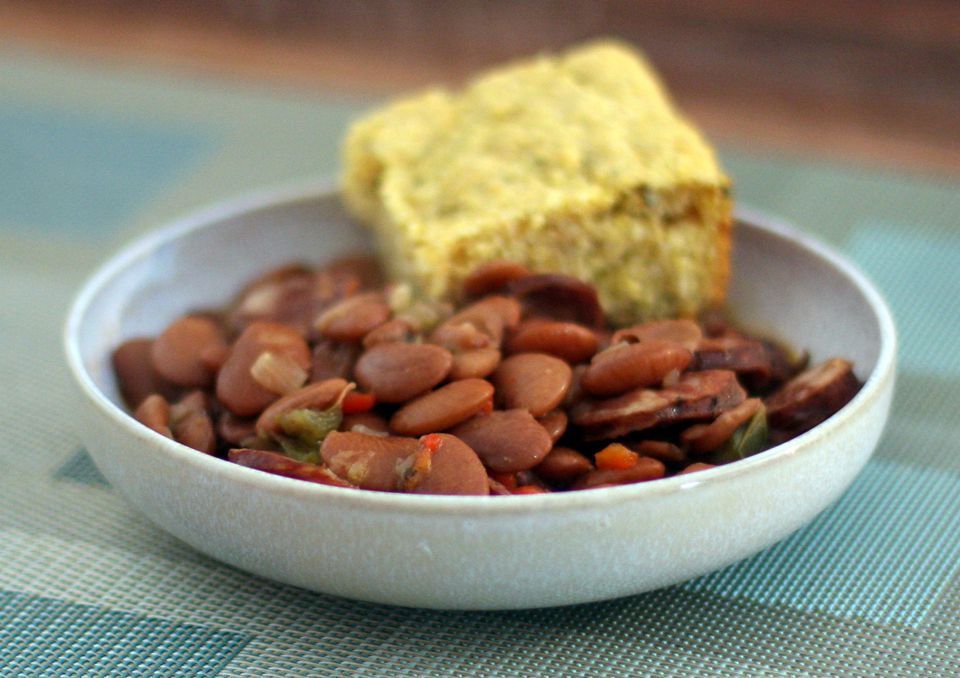 Butter Beans with Sausage and Cornbread