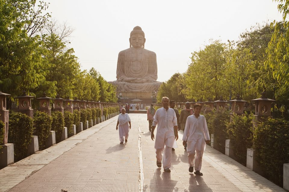 Great Buddha statue at Bodhgaya.