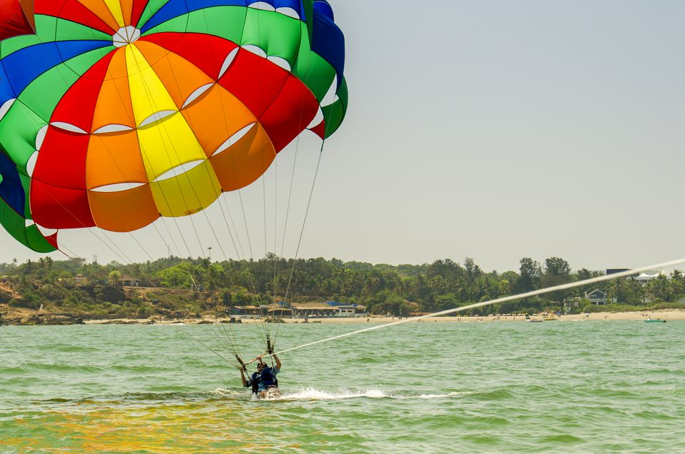Water sports in Goa.