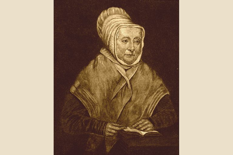 Hannah Adams, from an engraving based on her Boston Athenaeum portrait