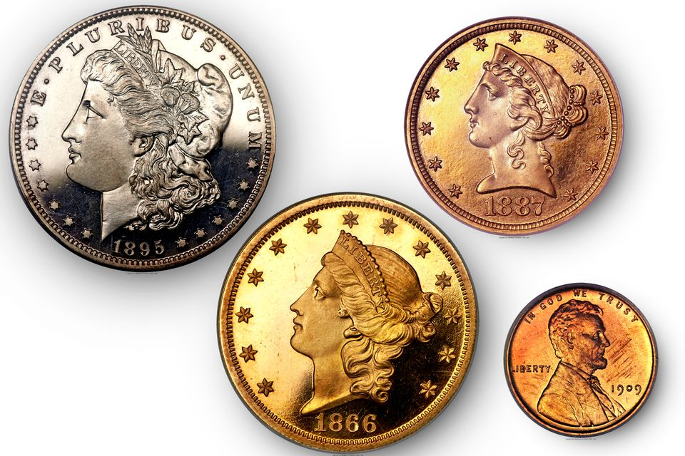 Early Proof Coins from the United States Mint.