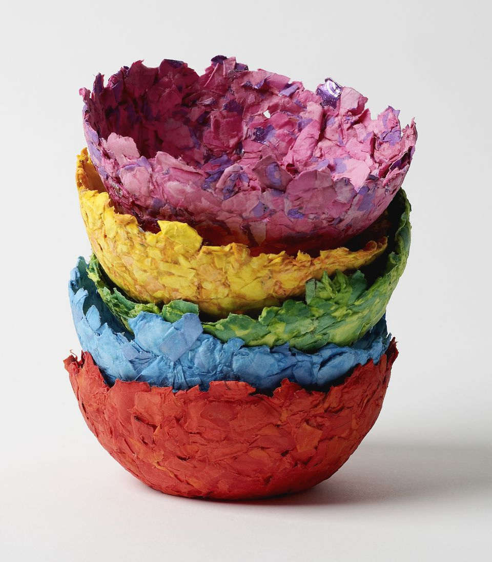 Step by step paper mache directions paper mache bowls jeuxipadfo Image collections