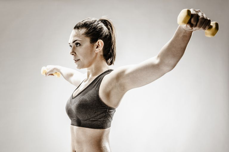 Woman doing a lateral raise