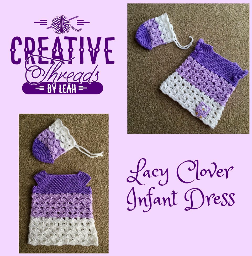 Free crochet baby clothes patterns baby dress free crochet patterns with matching bonnet bankloansurffo Choice Image