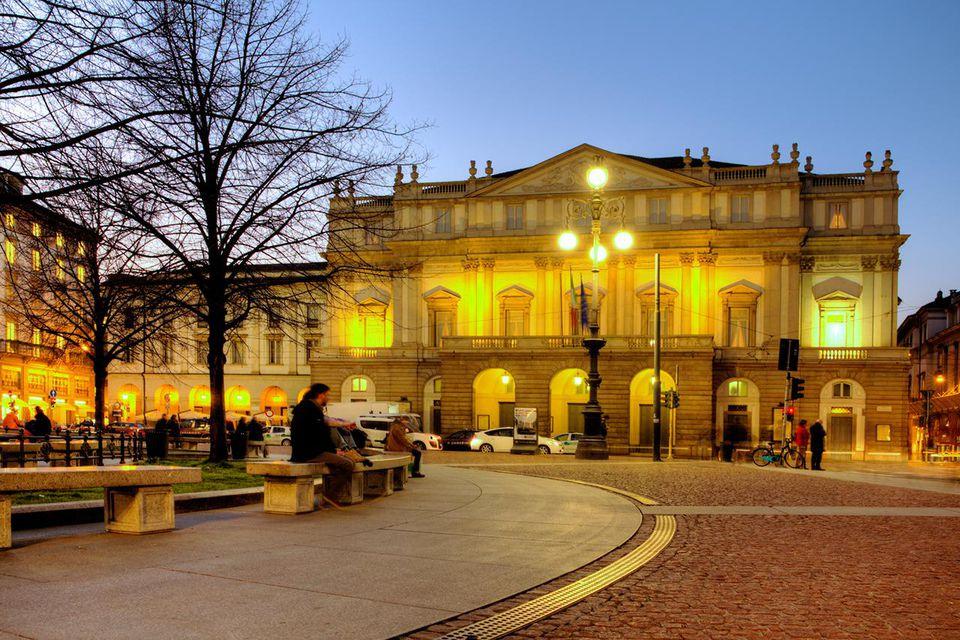 Milan, Piazza della Scala and Teatro alla Scala