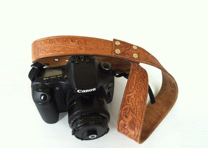 diy vintage belt camera strap