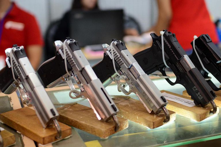 Gun Enthusiasts Gather For The 21st Defense & Sporting Arms Show