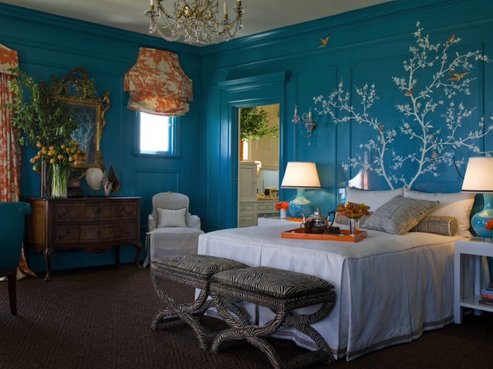 Interior Beautiful Blue Bedrooms 25 stunning blue bedroom ideas bright turquoise walls